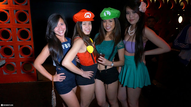 Mario & Luigi Halloween Costumes at RED Nightlife in Toronto, Ontario, Canada