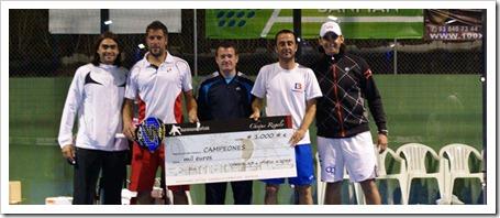 los ganadores de primera: Matías Nicoletti-Marcos Lucas