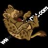 rolling hyena