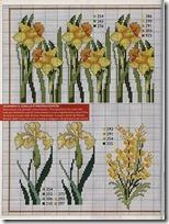 flores amarillas punto de cruz (1)