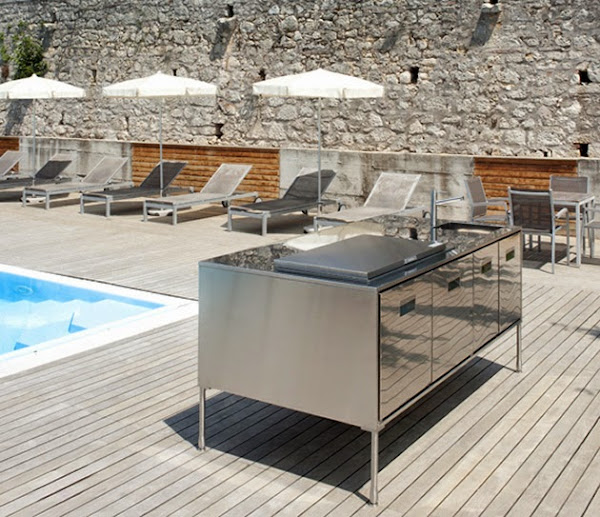 Compact Outdoor Kitchen Island Artusi Arclinea 4 Outdoor Kitchen Island