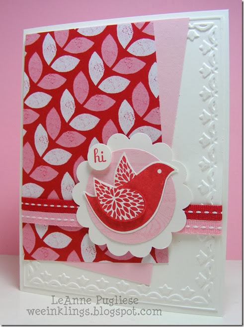LeAnne Pugliese WeeInklings Papaya Collage Stampin Up