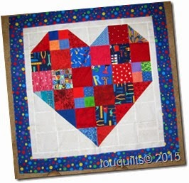 18_Louisa Checkerboard heart preemie quilt