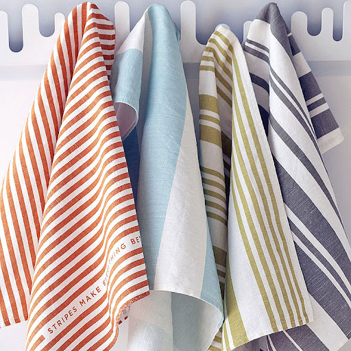 Cute dishtowels look great in most kitchens, and even better outside by the grill!