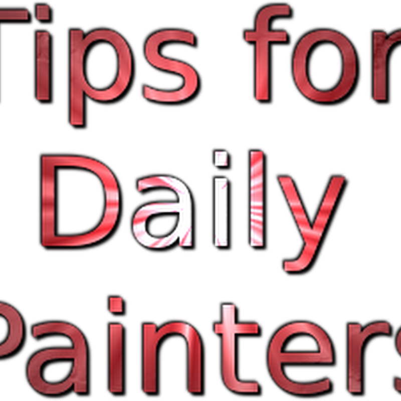 How to Become a Daily Painter and do a Painting a Day