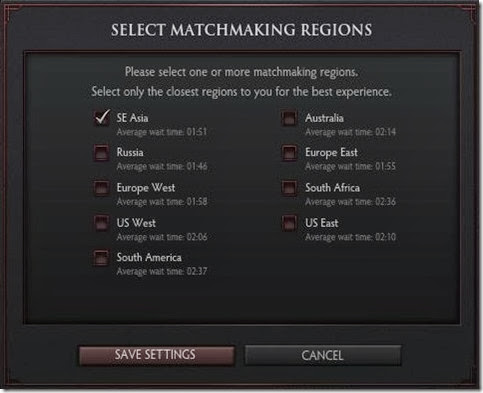 Dota 2 Matchmaking Regions