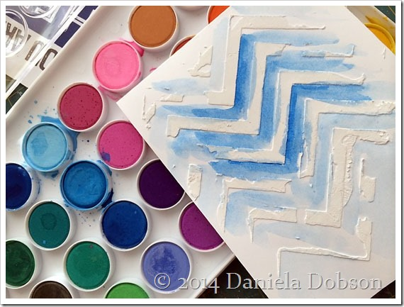 Watercolor background by Daniela Dobson