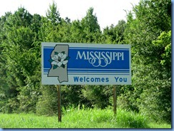 8469 US-72 Mississippi Welcome sign