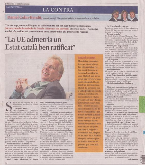 Dany instrumentalizat per La Vanguardia