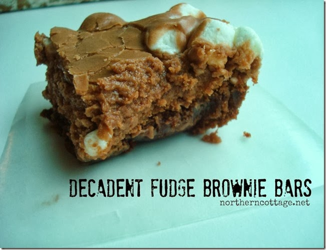 {Northern Cottage} fudge brownie bar recipe - TO.DIE.FOR!!