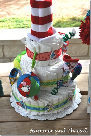 diaper cake tutorial finished back