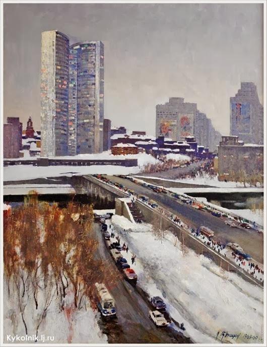Кузнецов Николай Дмитриевич (Россия, 1923-1974) «Москва. Калининский проспект» 1968