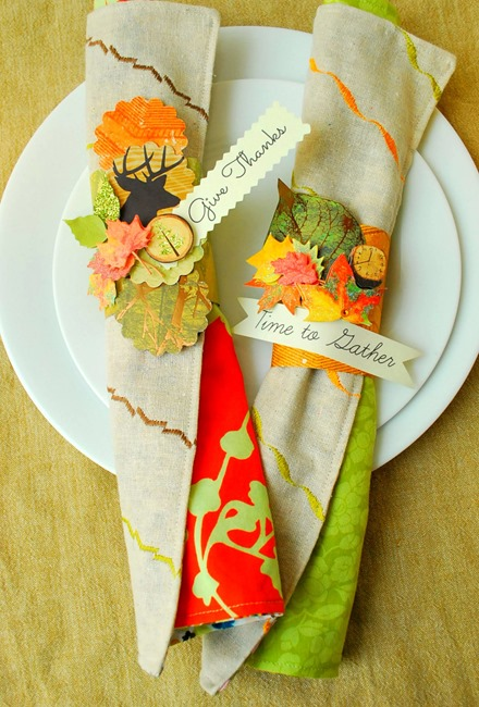 Thanksgiving Napkin Rings -- The Silly Pearl