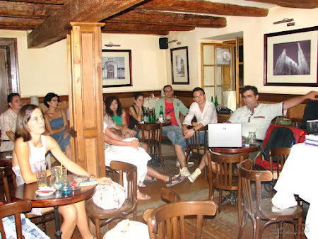 Sibiu: And during the evening telling stories about travels around the world!