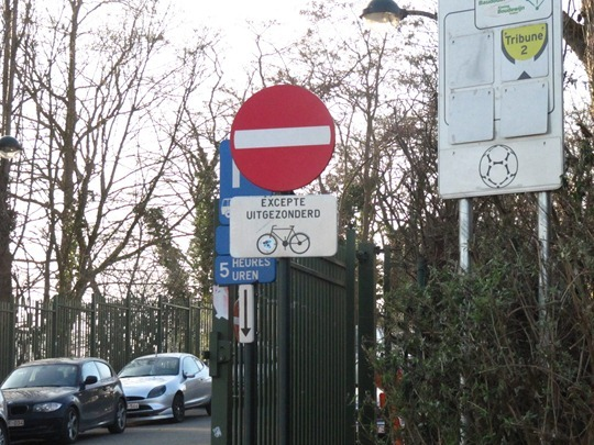 Bike sign in Brussels, Belgium