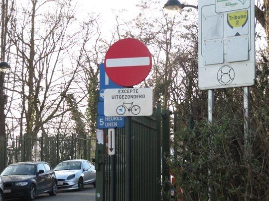Bike sign in Brussels, Belgium