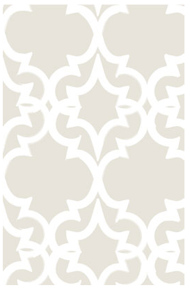 A trellis pattern with a Moroccan twist. (kremelife.com)