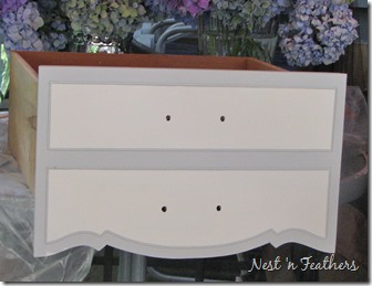 08 Grey white provincial table DRAWER