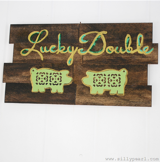 St Patricks Day Faux Pallet Art -- The Silly Pearl