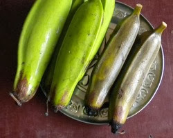 This is how the boiled plantain will look like.