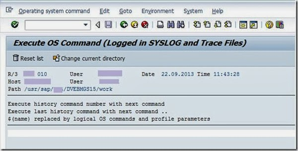 OS Level Commands in SAP