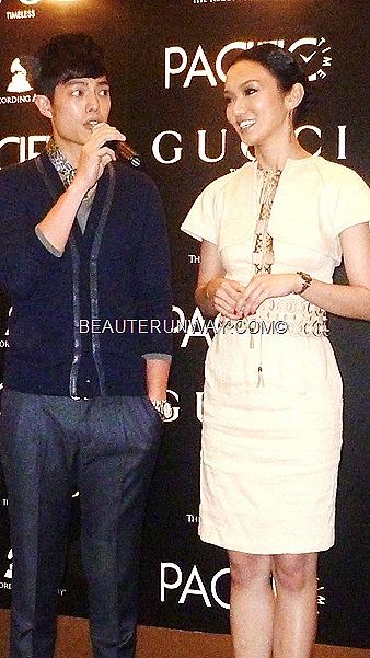 Joanna Peh and Yao Dong at Gucci