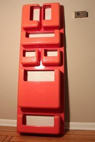 red ABS molded plastic panel designed by Giorgio De Ferrari for Elco I
