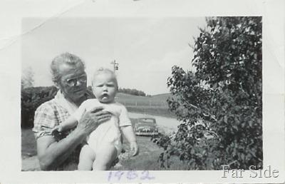 Grandma Y and me 1952