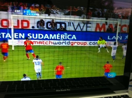 España 3-2 Chile, Amistoso Internacional