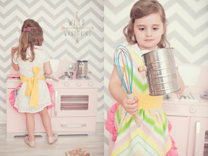 Little Girls Apron Tutorial by Wild Wandering