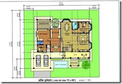 plan lantai ground floor