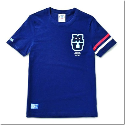 Monster University X Giordano - Blue Tee Shirt Men 02