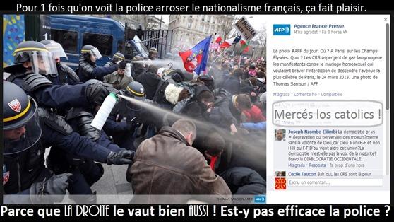 La polícia contra la dreita nacionalista francesa