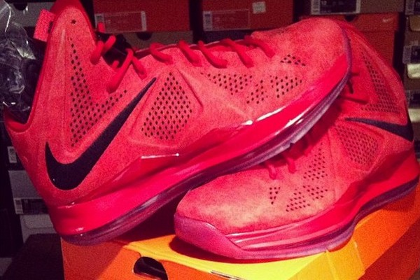 Another Look at Nike LeBron X NSW 8220Red Suede8221 PE