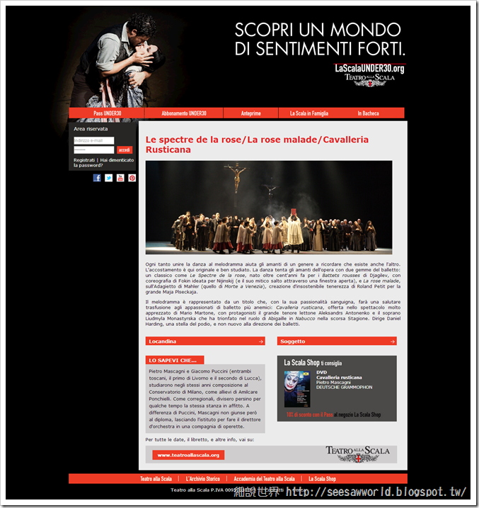 Le spectre de la rose-La rose malade-Cavalleria Rusticana---Scala Under30
