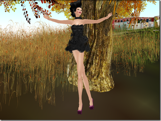 MLC Fini's Dress Black  by Mohna Lisa Couture02