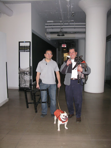 Here we are at the MSLO offices with Martin and Carlos - Carlos is carrying me because he knows how hard I've worked!  It's kind of a bonus.  Like I said - kind of.