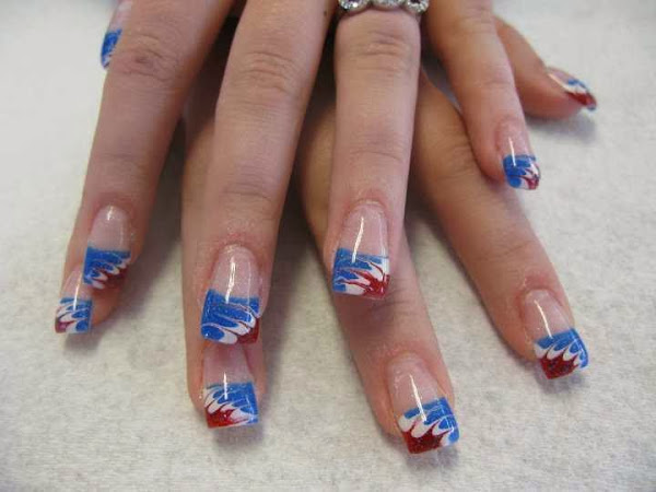 Day183 Red White And Blue Nail Designs
