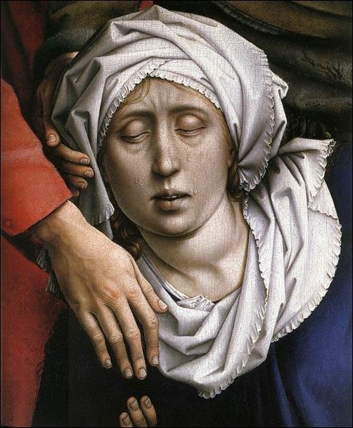 Van der Weyden, Détail de Déposition de croix