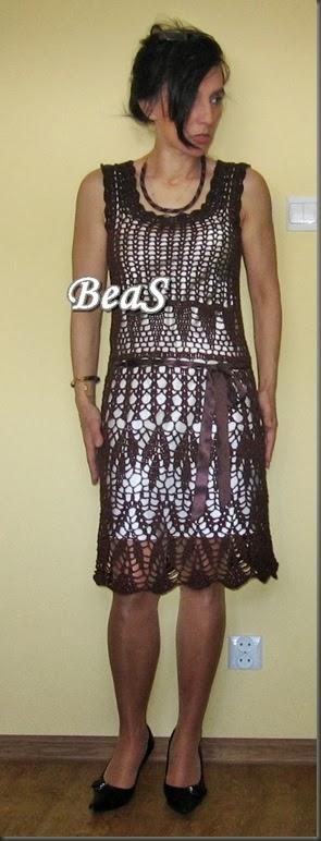 brązowa sukienka 223