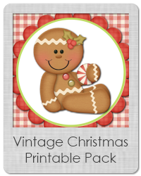 vintage christmas printable pack