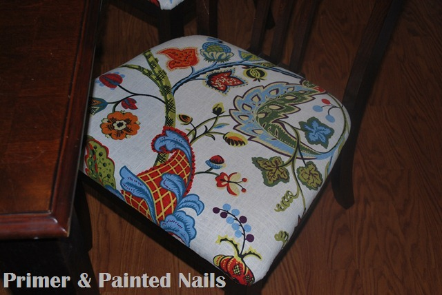 Dining Chair Seat Cushion - Primer & Painted Nails