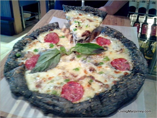 Village Tavern's Black Pizza