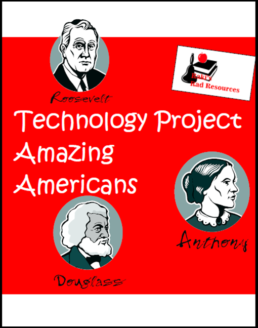 Technology project for 9 different Amazing Americans throughout American History.  These resources were designed to help teachers meet the Georgia Performance Standards for 3rd grade Social Studies.  Download now from Raki's Rad Resources