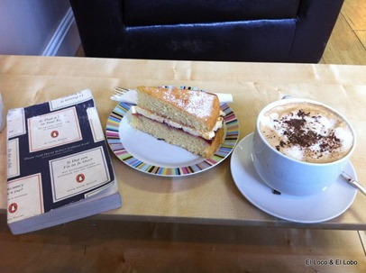 Book, coffee and cake