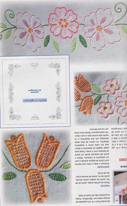 riscos para bordar de flores