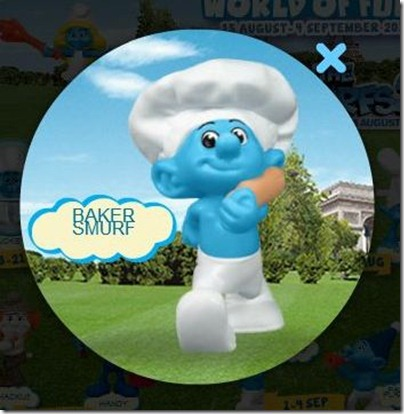 Smurf 2 X Happy Meal - Baker Smurf