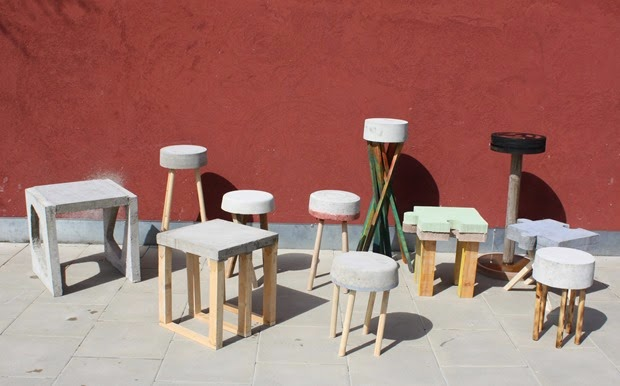 werkstatt officina04 projekt betonhocker progetto sgabello in cemento. Black Bedroom Furniture Sets. Home Design Ideas