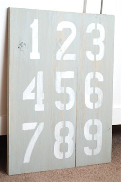 vintage number sign tutorial