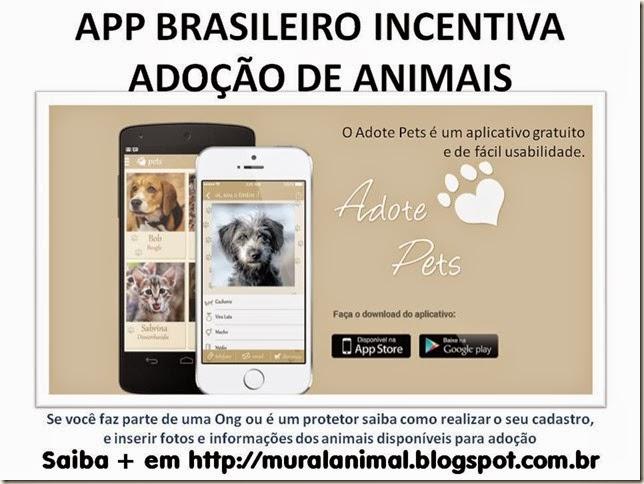 APP BRASILEIRO INCENTIVA ADOÇÃO DE ANIMAIS